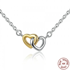 925 Sterling Silver United in Love Silver & Small Chain Necklace & Pendant For Women Sterling-Silver-Jewelry PSN011